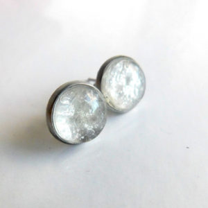 breast milk stud earrings