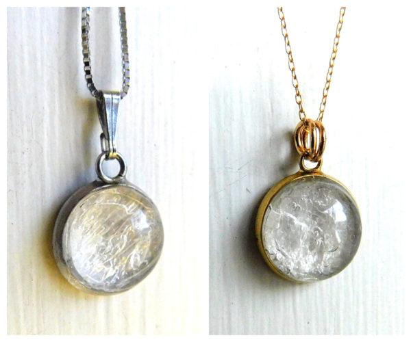 bubble breast milk necklace silver gold rose gold white