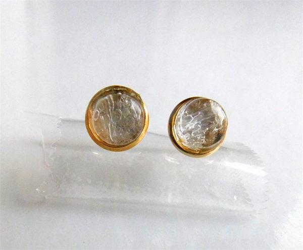 Gold Stud Breastmilk Earrings Non-Tarnish Hypoallergenic stainless