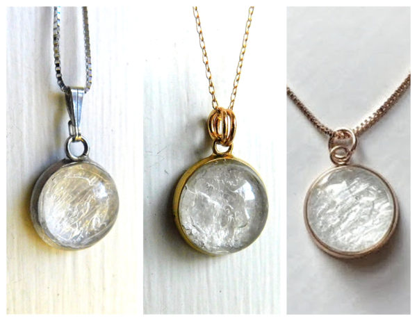 silver gold rose gold breastmilk necklace