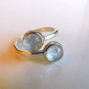 breast milk ring two double stone twins jewelry