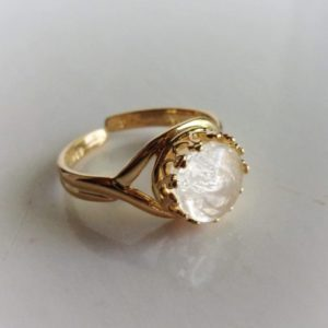 Gold Crown Adjustable Breast Milk Ring
