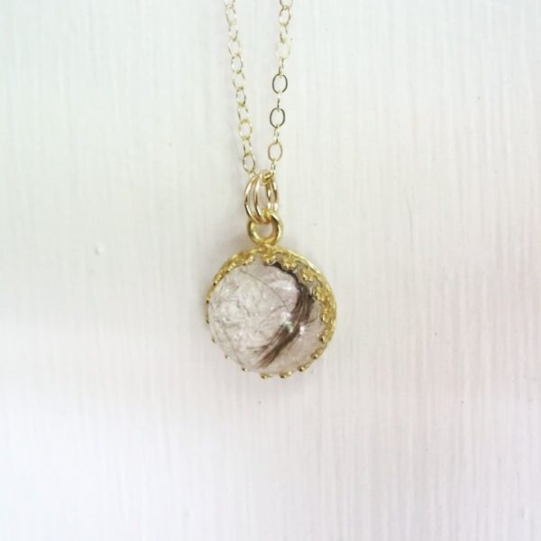 Gold Breast Milk Necklace Jewelry with birthstone