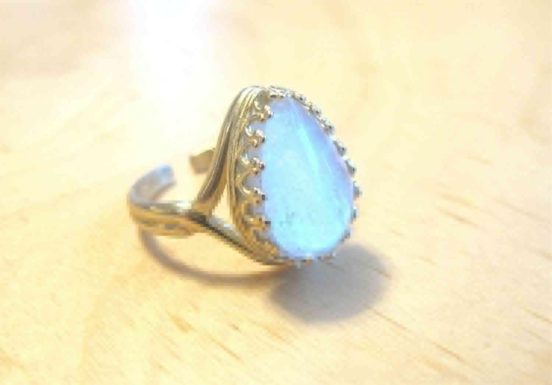Gold Breast Milk Jewelry Milk Drop Crown Adjustable Ring Non