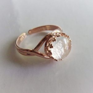 Rose Gold Crown Adjustable Breast Milk Ring