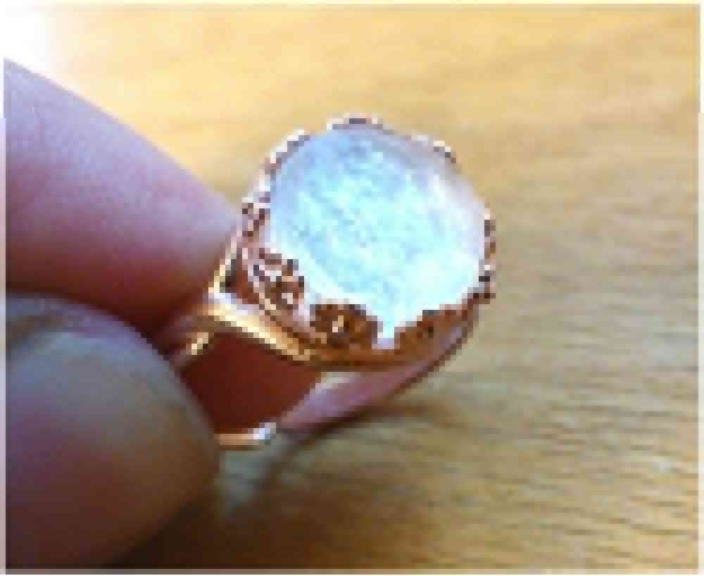 Rose Gold Floral Wreath Crown Ring Breast Milk Jewelry Adjustable