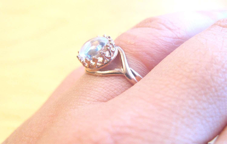Rose Gold Vermeil Crown Ring Breast Milk Jewelry Adjustable