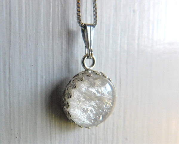 Ice Queen Breast milk necklace sterling silver crown