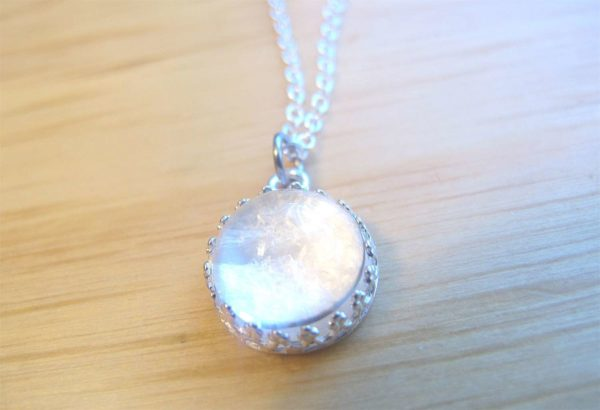 Sterling Silver Breast Milk Jewelry Crown Necklace