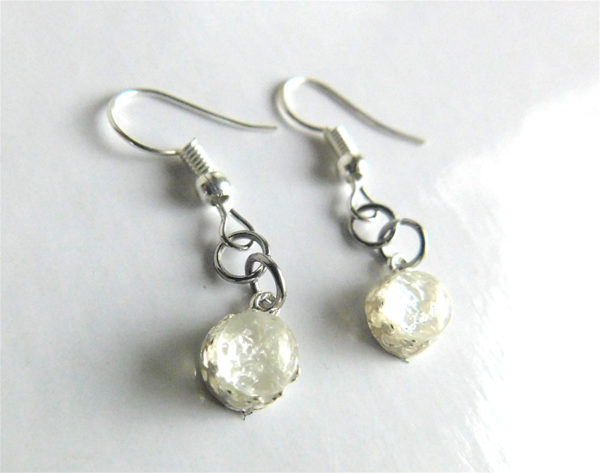 Crown Round Earrings Breast Milk Dangling Earrings