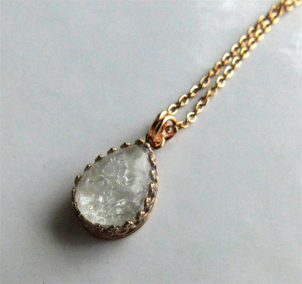 Rose Gold Breast Milk Crown Necklace