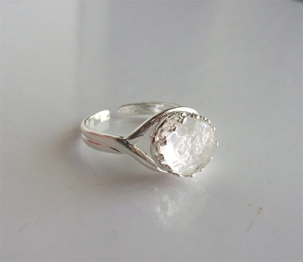 Breast Milk Ring Sterling Silver Adjustable Crown