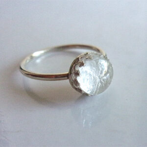 silver crown ring breast milk jewelry