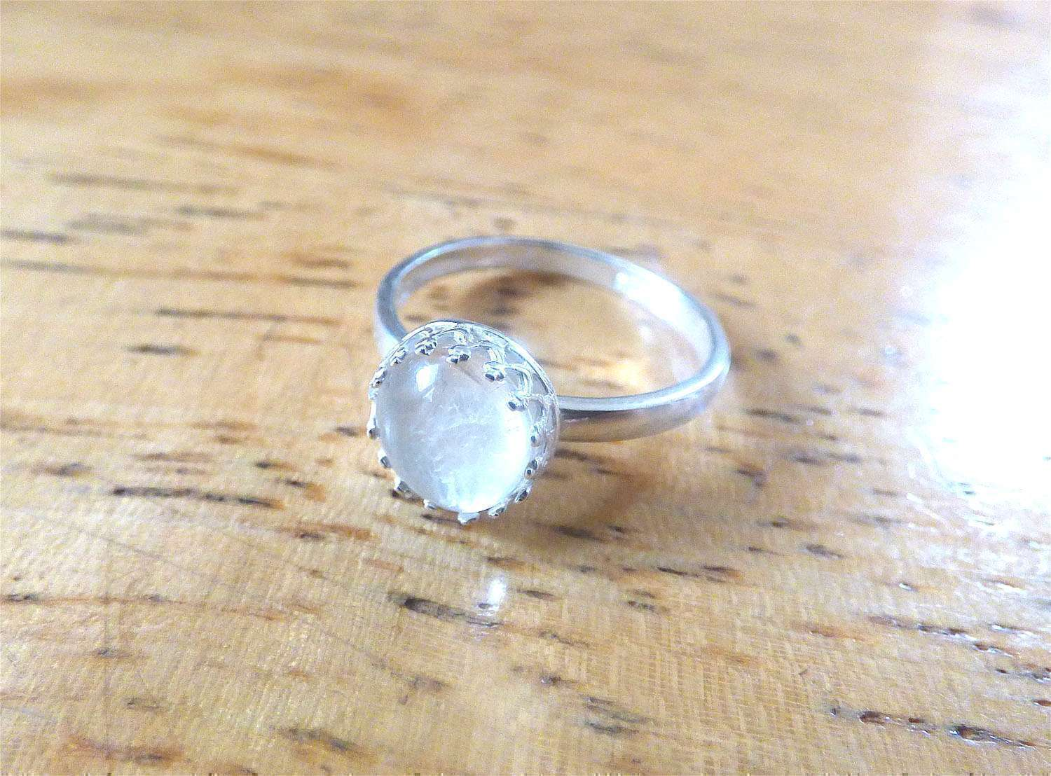 Solid Sterling Silver Crown Ring Breast Milk Jewelry Precious
