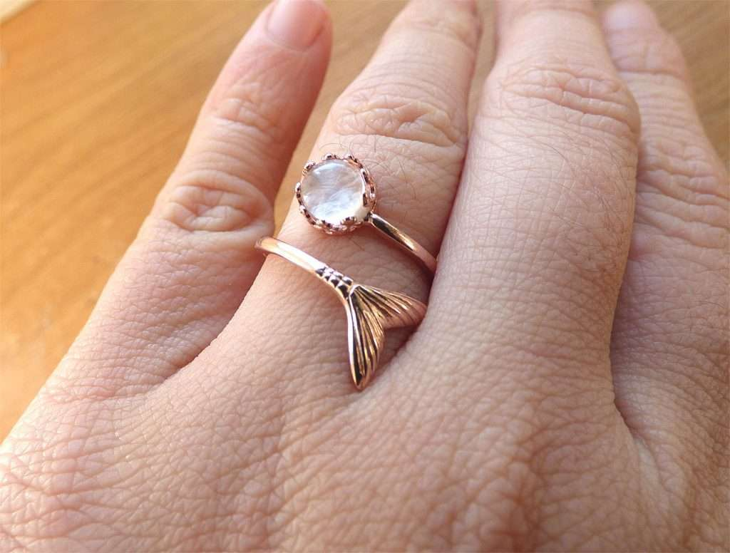 20a2eb70f8f72 FLASH SALE TODAY ONLY! 50% OFF Rose Gold Breast Milk Mermaid Ring ...