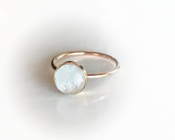 simply rose gold ring