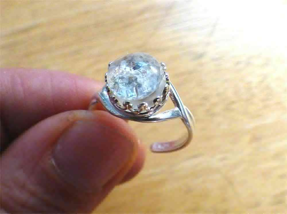 Memorial Cremation Sterling Silver Crown Ring Ashes Jewelry