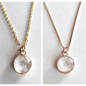 simply 14k gold-rose gold filled breastmilk necklace