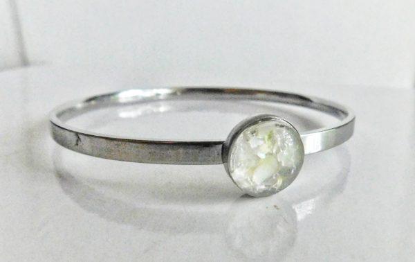 Bangle bracelet silver