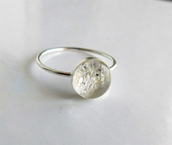 sterling silver ash urn ring