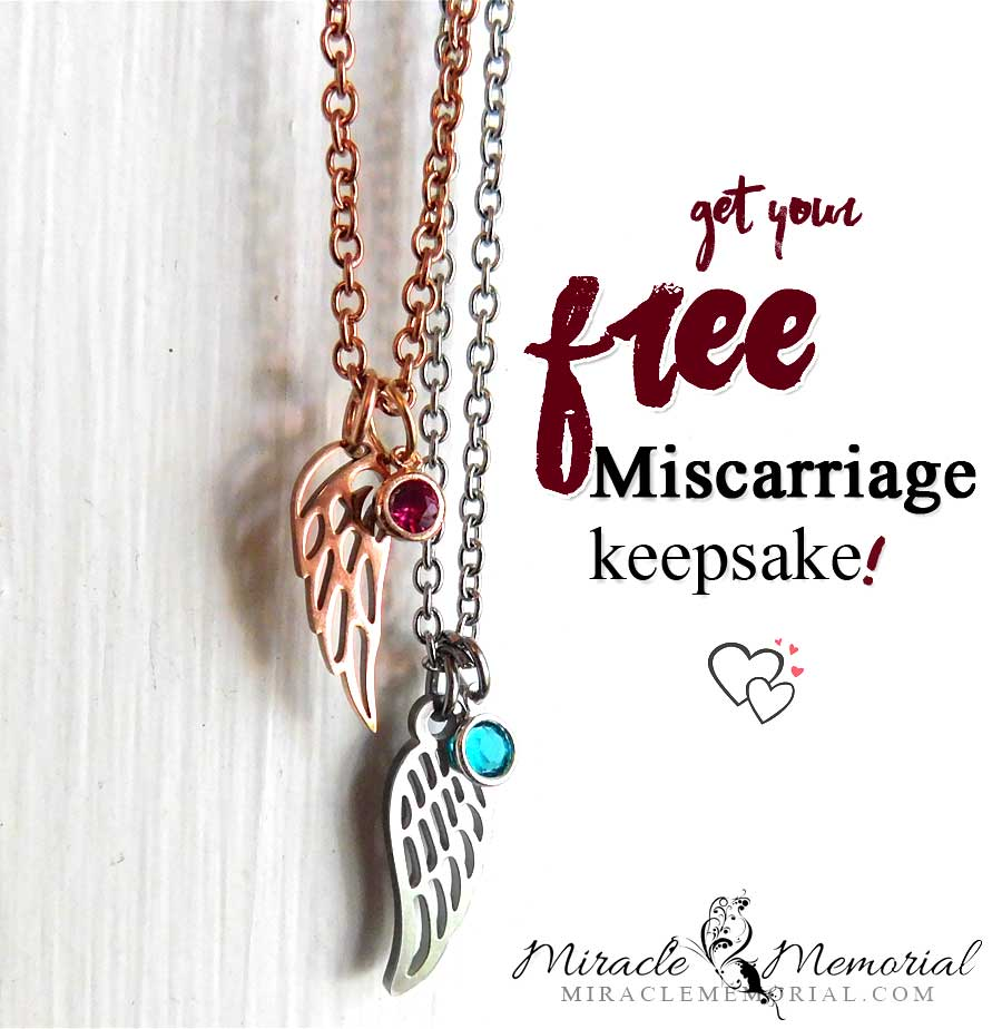 free miscarriage keepsake gift necklace for mom