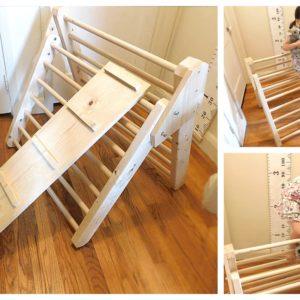 pikler triangle ramp ladder slide wood playground