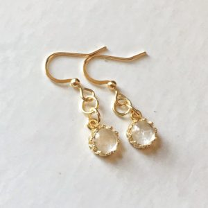 round crown gold breast milk dangling earrings