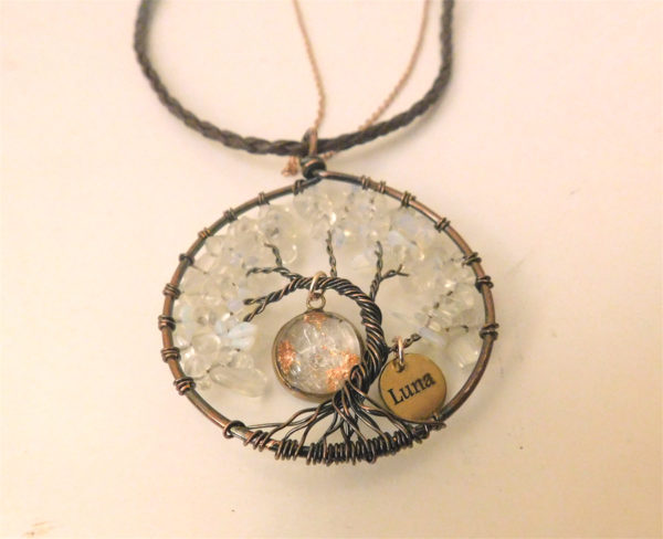 wire wrap bronze tree of life breast milk necklace jewelry