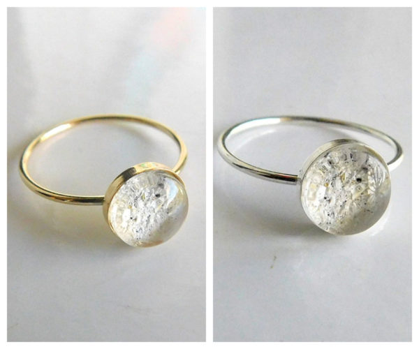 SOLID 10k 14k Solid White Gold _ Rose Gold _ Yellow Gold _ - Ash Urn Ring - breast milk ash cremation Jewelry