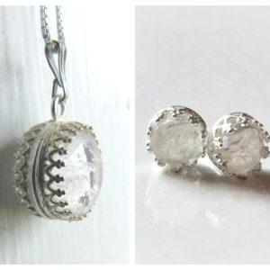 double sided twins milk sphere breast milk necklace stud earrings set