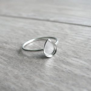 Classic Milk Drop Ring Sterling Silver Breast Milk Jewelry